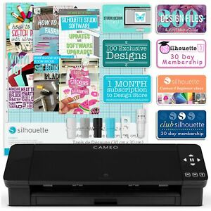 Silhouette Black Cameo 4 w/ Updated Autoblade, 3x Speed, Roll Feeder, and More