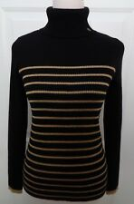 RALPH LAUREN NWT BLACK GOLD RL INSIG. COTTON RIBBED TURTLENECK SWEATER SIZE M