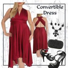 Convertible Sleeveless Wrap Dresses