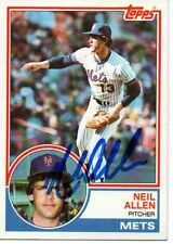 Neil Allen New York Mets 1983 Topps Signed Card