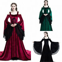 Classic Women's Victorian Gothic Dress Ruffle Steampunk Evening Vintage Costume