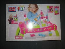 Mega Bloks First Builders Play n Go FairyTale Table 30 pieces Girls Toy Set NEW