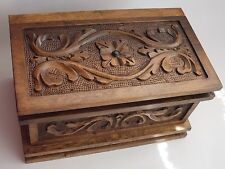 Magic Puzzle Wooden Jewel Box Bouquet pattern, Pandora's Case Secret Key