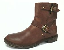 UGG Australia Ankle Boots Fabrizia Brown Western Motorcycle Moto Women's 8/39