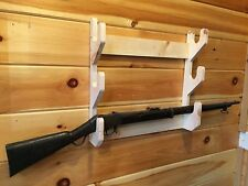 NEW Solid Wood 3 Place Gun Rack Rifle Shotgun Wall Mount Display MADE IN USA