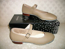 Capezio TeleTone Tap Shoe Buckle Dance 3686 Tan Black New In Box