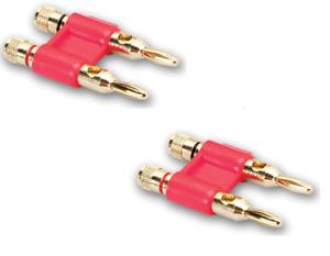 2x Banana Plugs Veoz Bananas Banana Speaker Cable to 4mm² Gold Plated