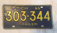 Vintage 1965 Michigan License Plate FREE SHIPPING Visit My eBay Store