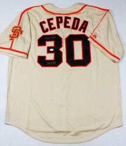 Orlando Cepeda Autographed Tan San Francisco Giants Jersey w/HOF - JSA W Auth *3