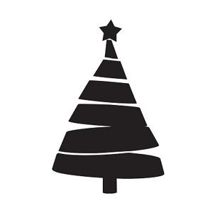 Christmas Tree 3, evergreen, vinyl decal, craft, sticker, holiday, pine, festive