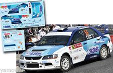 Decal 1:43 Ricardo Moura - MITSUBISHI LANCER EVO IX - Rally Portugal 2012