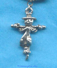 Halloween Scarecrow Charm Necklace NEW Fall Thanksgiving October Pumpkin Unisex
