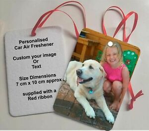 Personalised Car Air freshener (Double Sided Print)