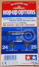 Tamiya 53103 RD 0.4/04 Steel Pinion Gear Set (24T & 25T) *F102/F103/F104/Group-C