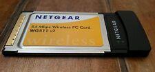 NetGear 54 Mbps Wireless-G PC Card (WG511VCNA) 100ft  v2