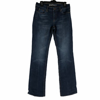 New York & Company Womens Blue Tall Curvy Low Rise Boot Cut Stretch Jeans Size 6
