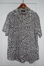 $189 SAKS FIFTH AVENUE MEN'S LINE COTTON SHORT SLEEVE SHIRT LARGE MADE IN USA
