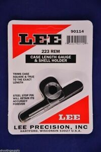 Lee Case Length Gauge & Shell Holder 223 Remington 5.56x45 Nato #90114