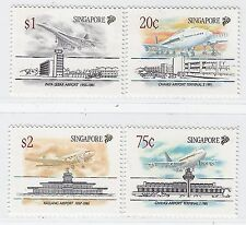 Singapore stamps - 1991 Aircraft aviation history planes & airport MNH