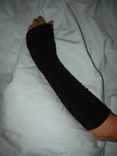 Arm Warmers Black Fine Weight Lycra And Mixed Fibre Gothic Emo Sub Cultures