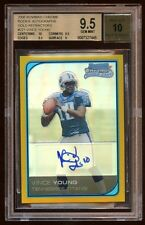 BGS 9.5 *10* VINCE YOUNG BOWMAN CHROME RC AUTO /50 GOLD REFRACTOR