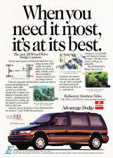 1992 Dodge Caravan AWD All-wheel van - Classic Vintage Car Advertisement Ad J42