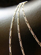 "CHAIN FIGARO 20"" INCH SOLID STERLING SILVER 925 LONG"