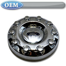 "OEM NEW 2005-2015 Ford F-450, F-550 FRONT 19.5"" Wheel 2WD Chrome Center Cap 4x2"
