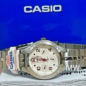 Authentic Casio Fashion Quartz Watch Day Date Womens 3 Dials LTP2064A-7A2 Dress