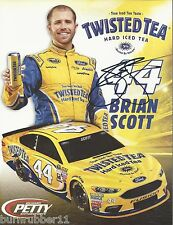 "SIGNED 2016 BRIAN SCOTT ""TWISTED TEA PETTY FORD"" #44 NASCAR SPRINT CUP POSTCARD"