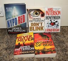 James Patterson x5 Books NYPD Red Never Never, Women of God, Don't Blink Honeymo