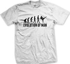Evolution Of Man Karate Kick Black Belt Chop Dojo Class Gi Master Men's T-Shirt