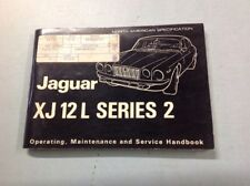 NOS 1974 JaguarXJ12L Owners Handbook with all Inserts