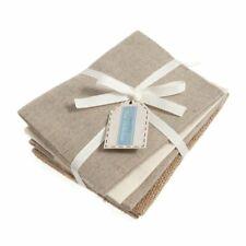 Cotton linen natural fabrics fat quarter bundle 4 pack: cotton, jute