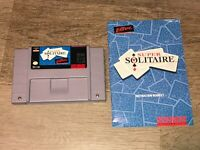 Super Solitaire w/Manual & Case Super Nintendo Snes Tested Great Cond Authentic