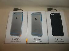 LOT OF 3 IHOME IPHONE 6 CASES, 2 SHEER SILVER, 1 REFLEX BLACK