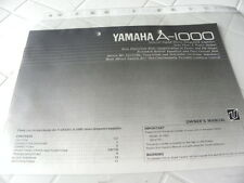 Yamaha A-1000 Owner's Manual  Operating Instructions Istruzioni New