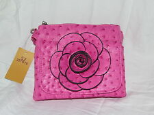 22tote Leather pink flower purse/bag with shoulder strap - NEW & FREE SHIPPING!