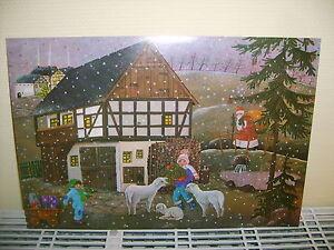 alter originaler Weihnachtskalender ungeöffnet Vorweihnachtszeit Weihnachtsmann