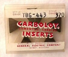 5 pc Carboloy Cemented Carbide Inserts TBG 443 Grade 370 - NEW