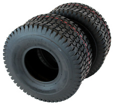 Set of 2 New 15x6.00x6 Turf Tires for Lawn & Garden Mower