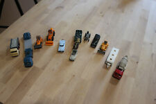 12 Vintage Wiking Plastic Ho Cars Trucks & Material Handling Made In Germany
