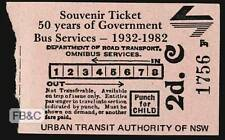 Souvenir Ticket - 50 Years of Government Bus Services 1932-1982