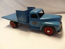 Vintage 1950s Product Miniature Co Blue Flatbed Model Truck Toy