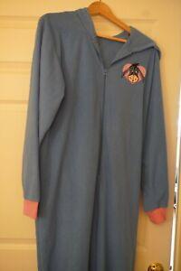 NWOT Eeyore Disney One piece Hoodie Footie Pajamas costume Adult XL