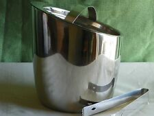 Gorham Division of Lenox Ice Bucket lid & tongs New Original Box  hot or cold