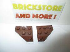 beige tan 4 x LEGO 2450 Plaque Aile Wedge Plate 3x3 Cut Corner NEUF NEW