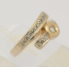 ♦ Ring 14 kt 585 Gelb Gold mit Solitär Brillant Diamant Brillanten Brillantring