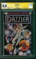 Dazzler #1 CGC 8.0 SS signed STAN LEE ERROR VERSION Upcoming TV show