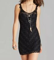 NWT Free People Foiled Again Lace Bodycon Dress Black Size S